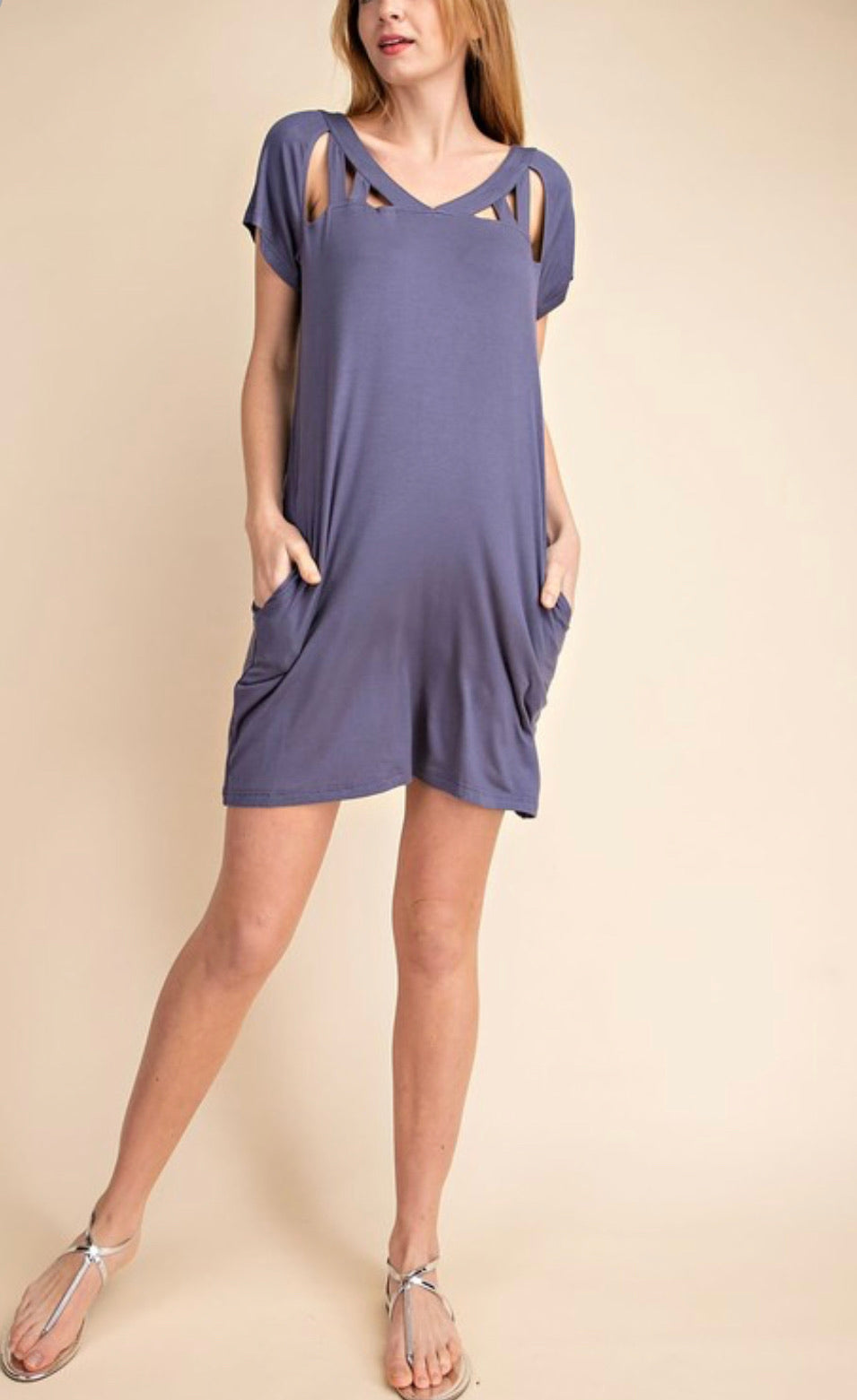 Clara Cutout Shift Dress