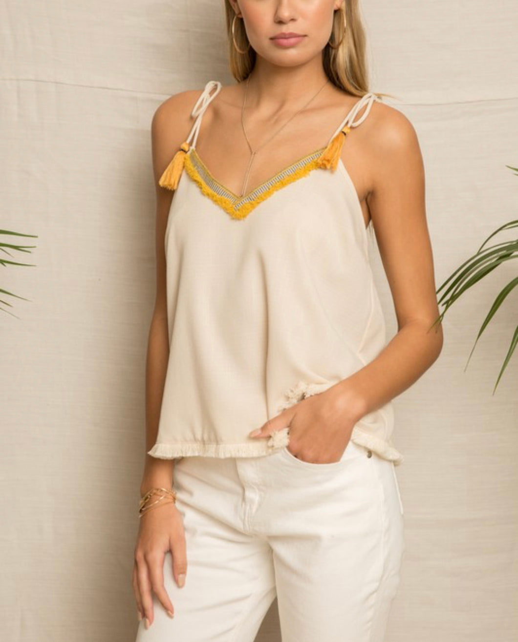 Frieda Fringe Top