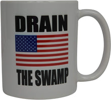 Load image into Gallery viewer, Republican Conservative Coffee Mug USA Flag American Drain The Swamp Novelty Cup National Anthem Gift For Men Dad Father Husband Military Veteran Conservative USA Flag