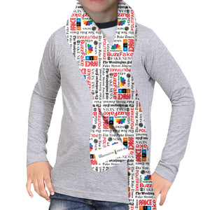 Fake News SCARF - DOUBLE SIDED