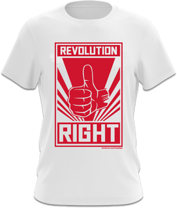 The Big Revolution Right - White T-Shirt
