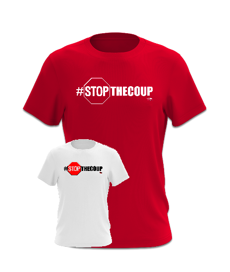 #STOPtheCoup T-Shirt (White or Red)