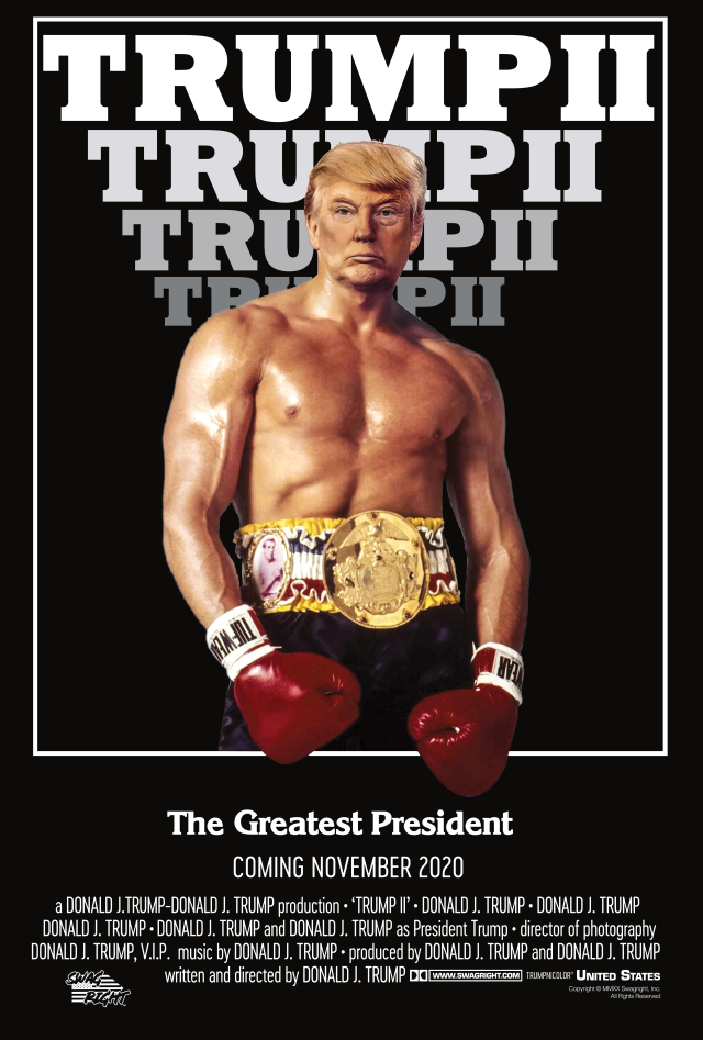 Trump II Poster - Rocky Style (24x36 in)
