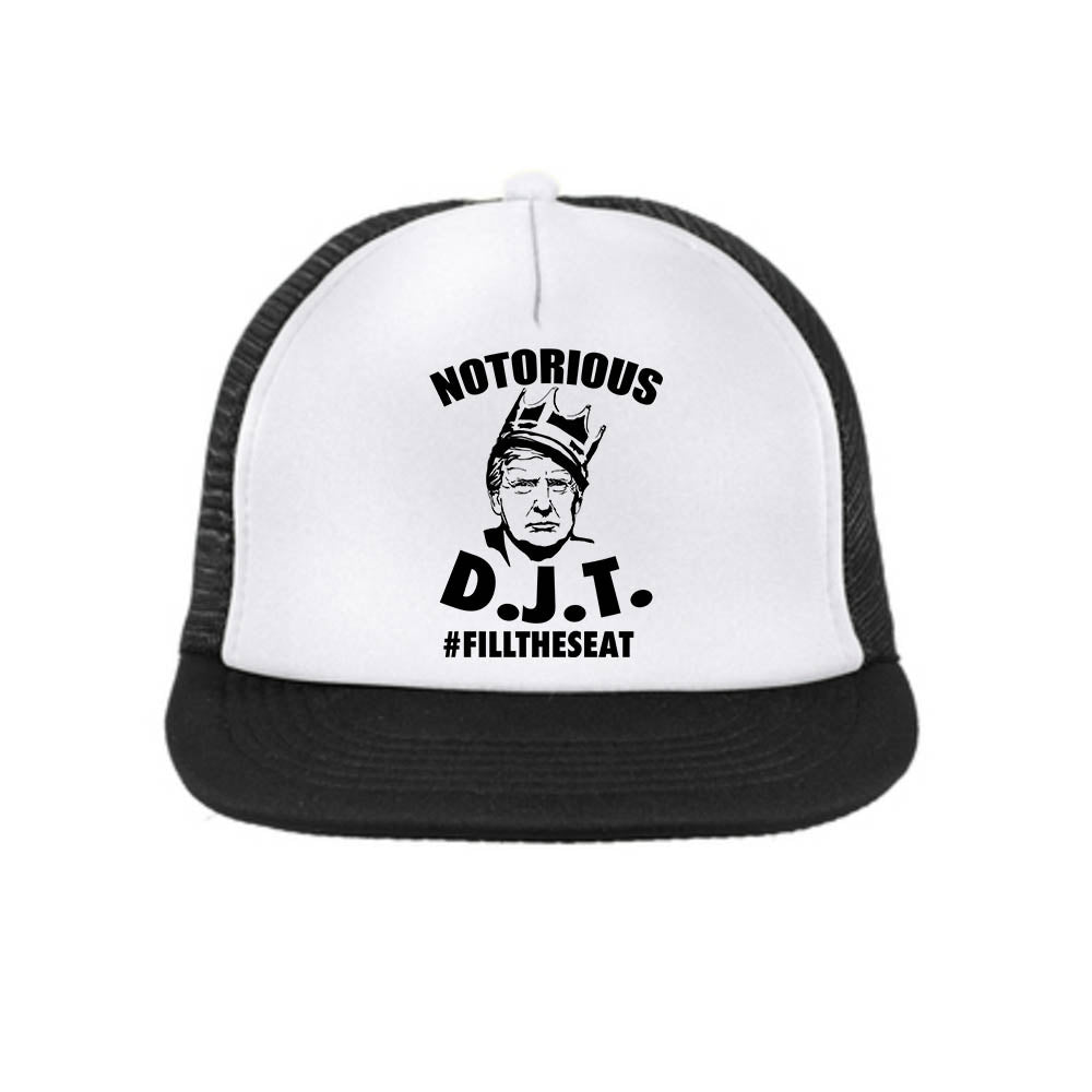 The Notorious DJT Snap Back Trucker Hat