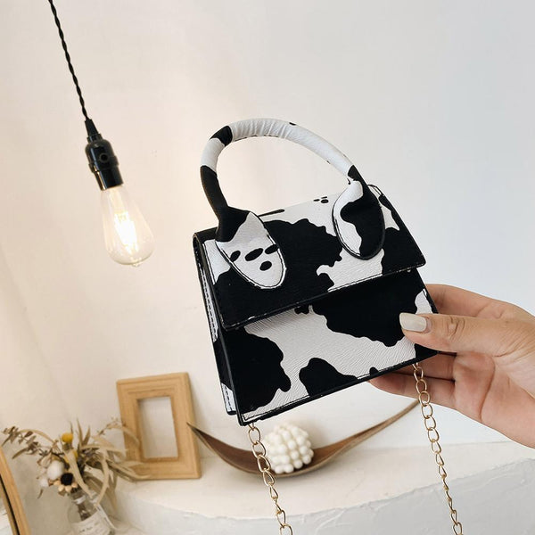 Mini Crossbody Cow Print Bag