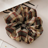 Warm Plaid Scrunchie