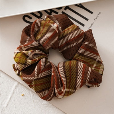 Autumnal Plaid Scrunchie