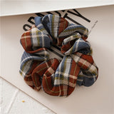 Tartan Plaid Scrunchie
