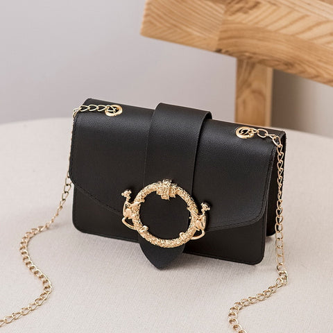 Fancy Lock Crossbody Bag