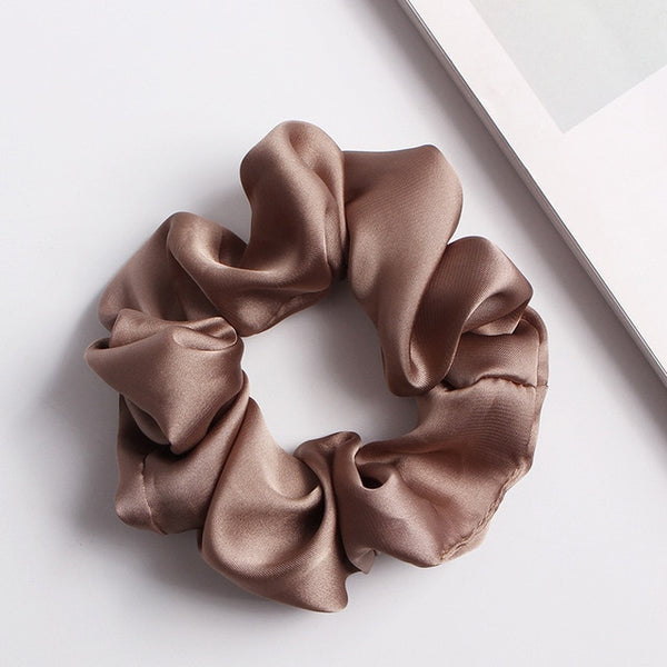 Clay Brown Scrunchie