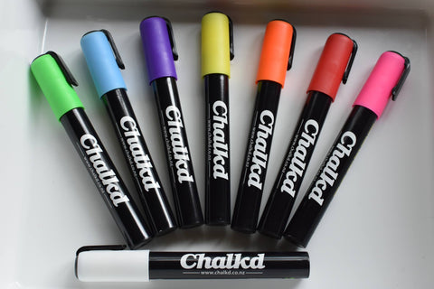 Chalkd Markers - 6mm chisel/bullet tip