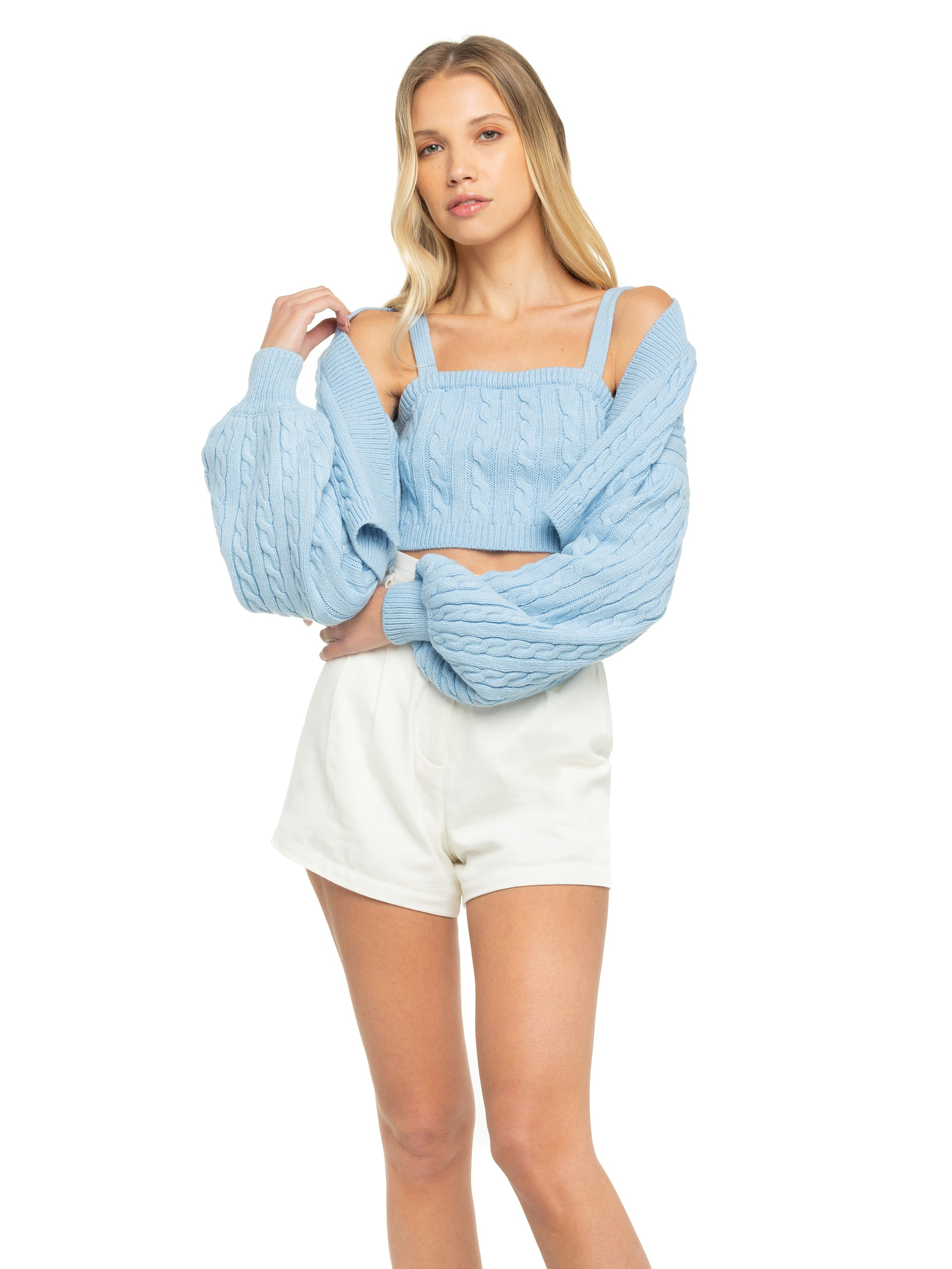 Charlotte Cropped Cardigan Set