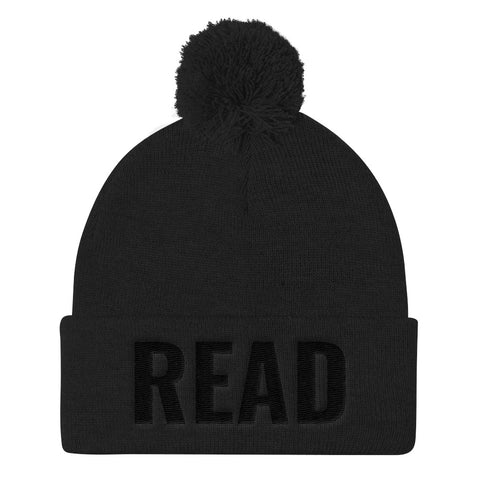 The READ Pom Pom Knit Cap