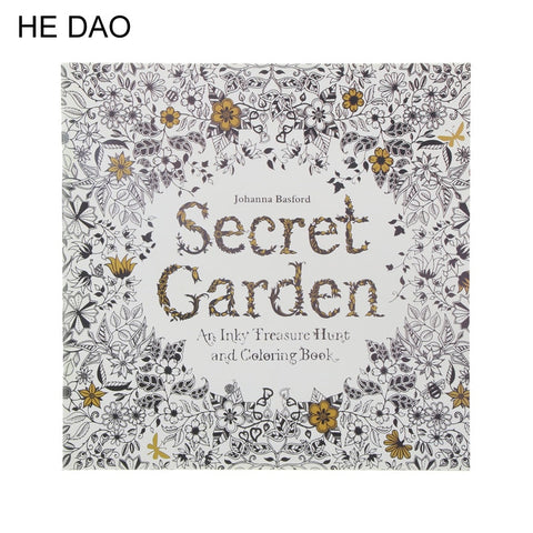 Secret Garden Coloring Book for Late Night Dreamers - 24 Pages