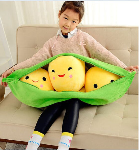 Huge Peas in Pod Pillow for Storytime Friend