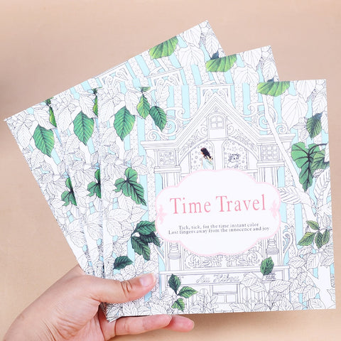 Time Travel Coloring Book for Children & Adults