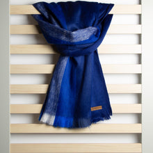 Load image into Gallery viewer, Alpaca scarf - Blue Stripe
