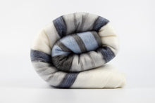 Load image into Gallery viewer, Alpaca blanket - Arctic Blue Stripe