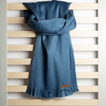 Load image into Gallery viewer, Alpaca scarf - Steel Blue