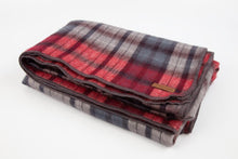 Load image into Gallery viewer, Alpaca blanket - Claret Check