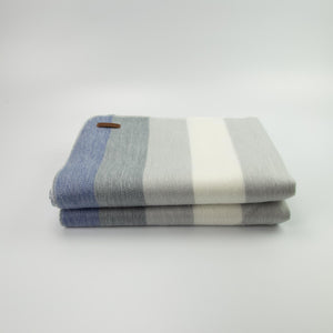 Alpaca blanket - Denim Stripe