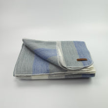 Load image into Gallery viewer, Alpaca blanket - Denim Stripe