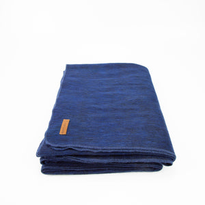 Alpaca blanket - Navy Blue