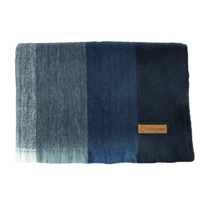 Alpaca scarf - Dark Blue Stripe