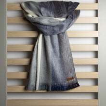 Load image into Gallery viewer, Alpaca scarf - Denim Stripe