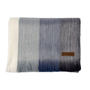 Alpaca scarf - Denim Stripe