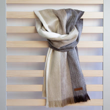 Load image into Gallery viewer, Alpaca scarf - Latte Stripe