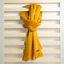 Load image into Gallery viewer, Alpaca scarf - Honey Mustard