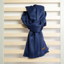 Load image into Gallery viewer, Alpaca scarf - Azure Blue