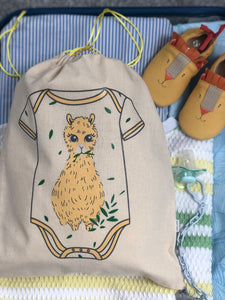 Cute Llama Nappy Travel Bag Organiser | Baby Toy Bag | Baby Clothing Bag