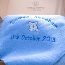 Load image into Gallery viewer, Personalised Alpaca Baby Blanket - Baby Shark
