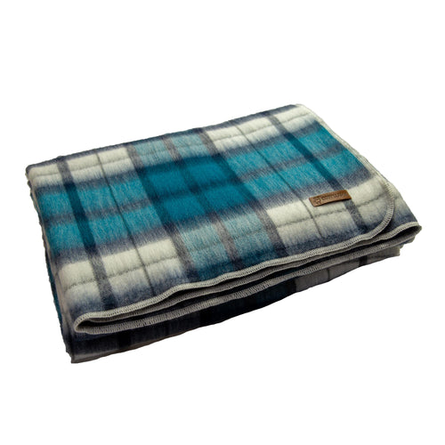 Alpaca blanket - Blue Check