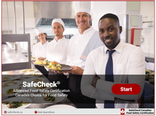 Load image into Gallery viewer, SafeCheck Advanced Food Safety - English Language Version - Online  - Includes Exam + COVID-19 Awareness