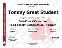 Load image into Gallery viewer, Food Safety Certification - SafeCheck® Advanced Premium Package - Approved Everywhere in Canada - Includes Exam