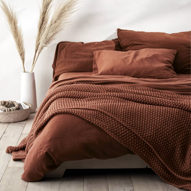 Chunky Knit Bed Blanket - Casaluna™
