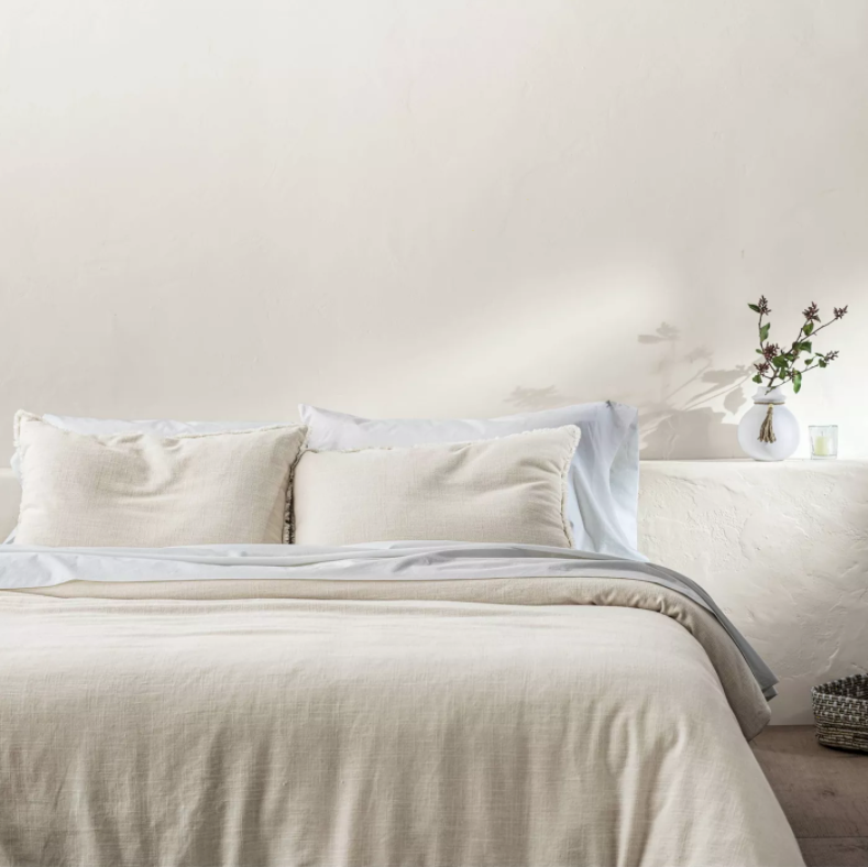 Heavyweight Linen Blend Comforter & Sham Set - Casaluna™