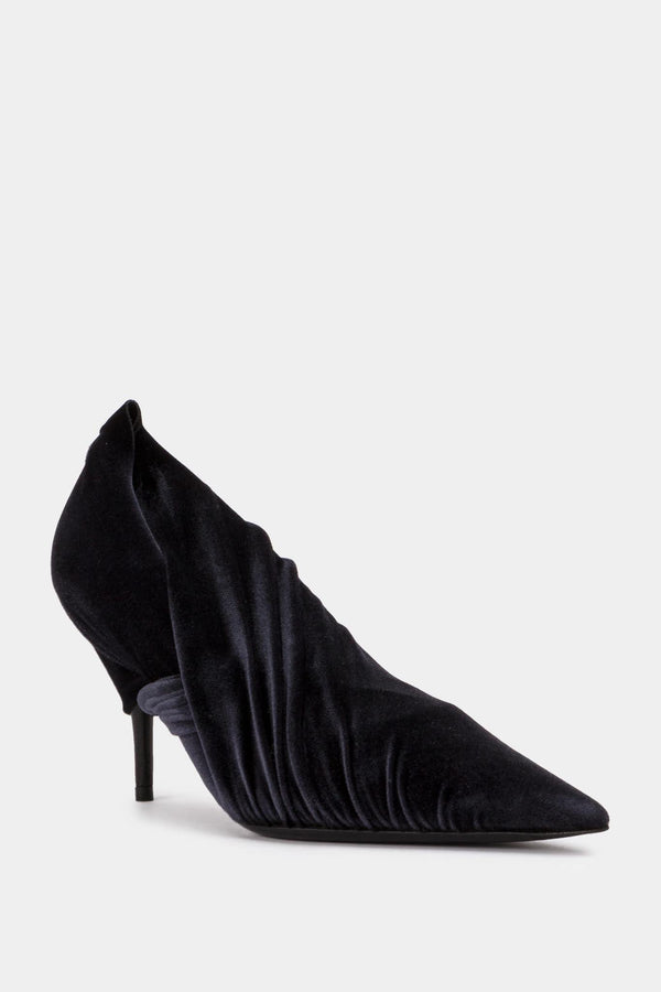Balenciaga Black velvet pumps