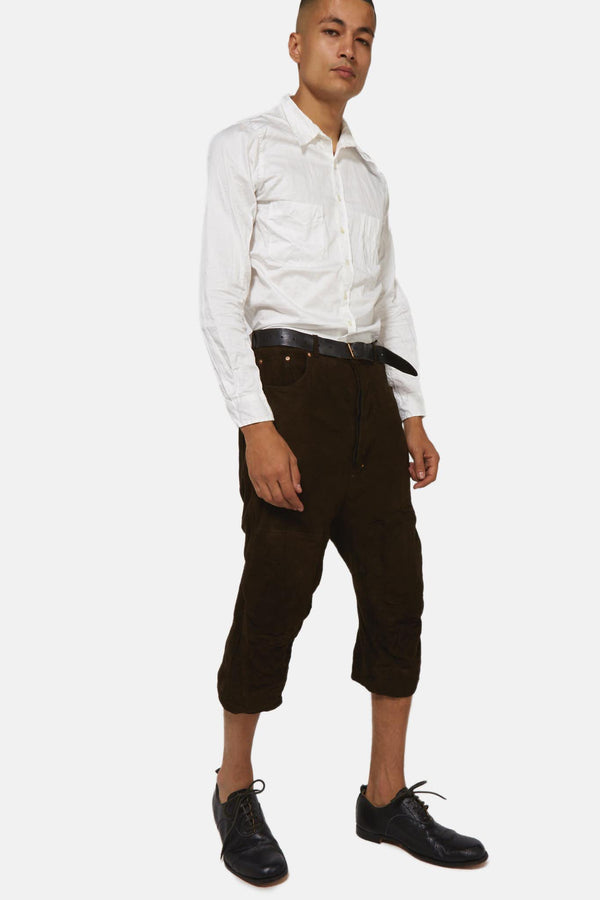 Pantalon en cuir marron Paul Harnden