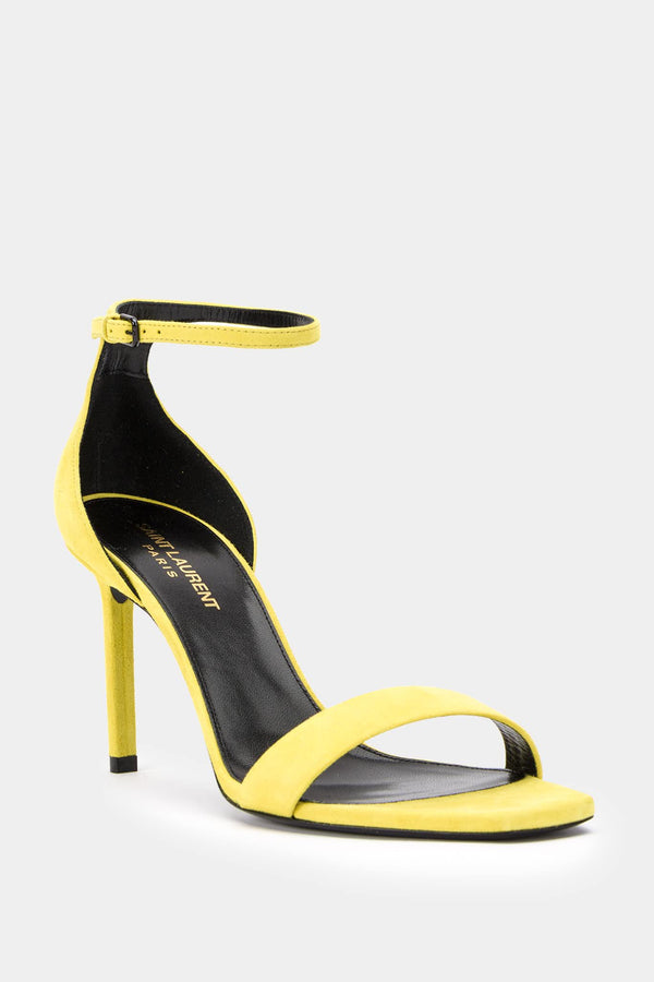 "Saint Laurent Yellow suede pumps ""Amber"""