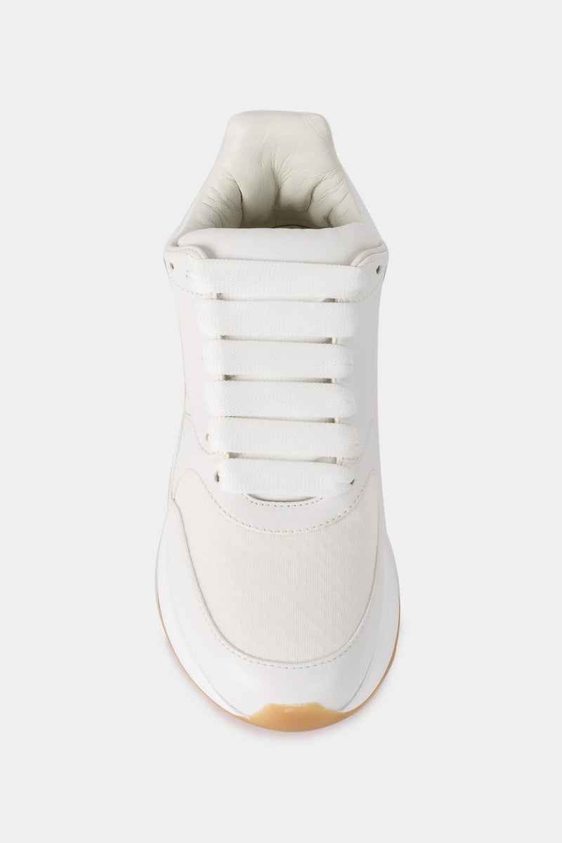 Alexander McQueen Baskets blanches Oversized Runner