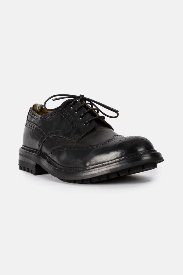 Derbies en cuir noires Exeter