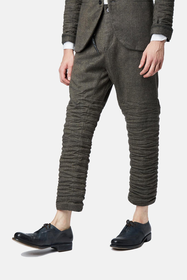 Pantalon en laine gris Layer-0