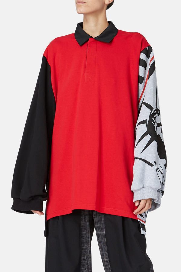 Polo sweat oversize