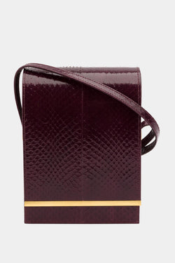 Diamondogs Burgundy snake leather bag