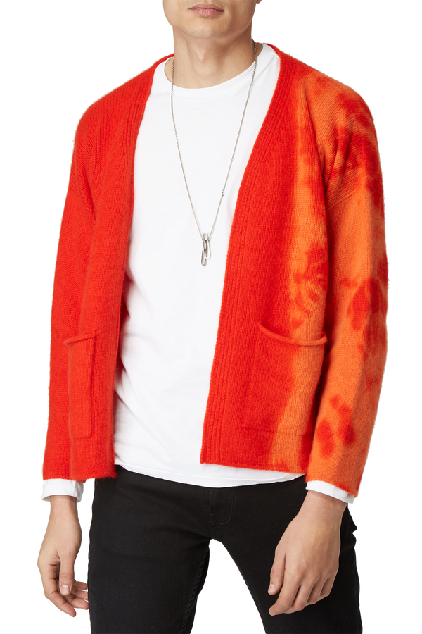 Cardigan en cachemire orange