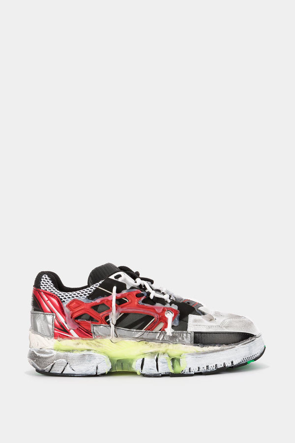 Maison Margiela Baskets basses en cuir multicolores